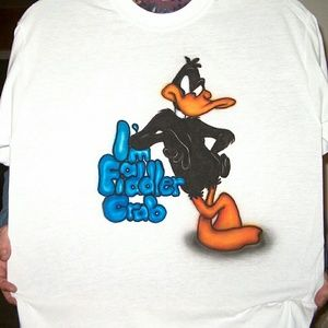 DAFFY DUCK Airbrushed T-shirt Custom Made to Order